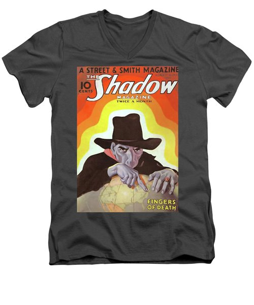 The Shadow Fingers Of Death Men's V-Neck T-Shirt