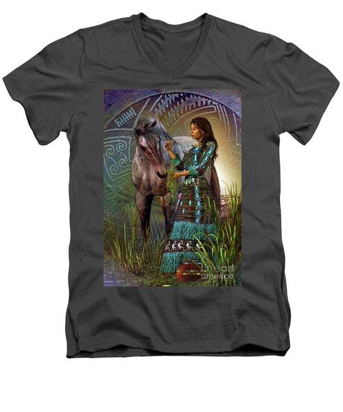 The Horse Whisperer Men's V-Neck T-Shirt by Shadowlea Is