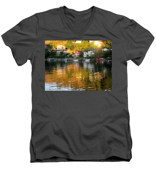 The Shadows Created Men's V-Neck T-Shirt