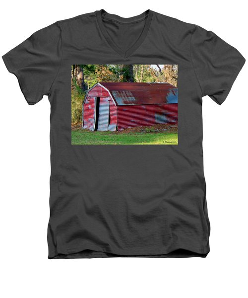 The Shed Men's V-Neck T-Shirt by Betty Northcutt