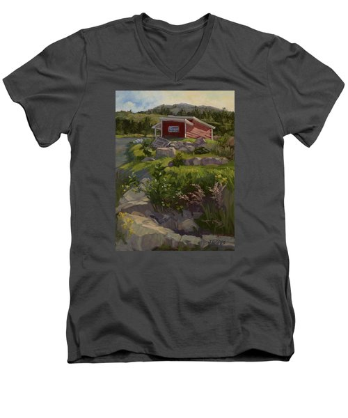 The Shed Men's V-Neck T-Shirt by Jane Thorpe