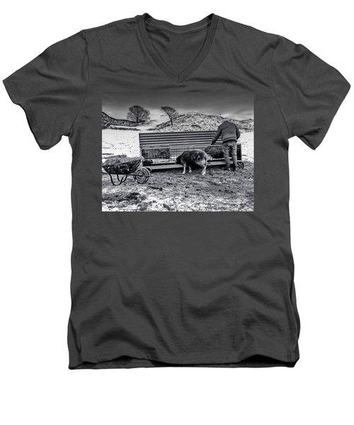 The Shepherd Men's V-Neck T-Shirt by Keith Elliott
