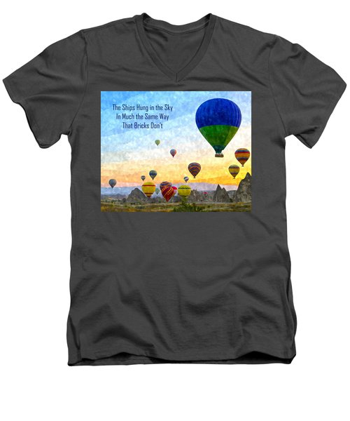 The Ships Hung In The Sky Men's V-Neck T-Shirt