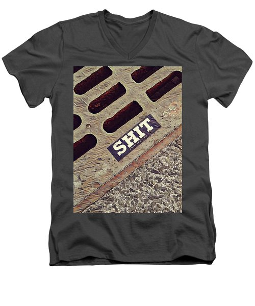 The Shit You See In New York City Men's V-Neck T-Shirt by Bruce Carpenter