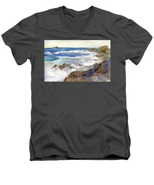 The Shores Of Falmouth Men's V-Neck T-Shirt
