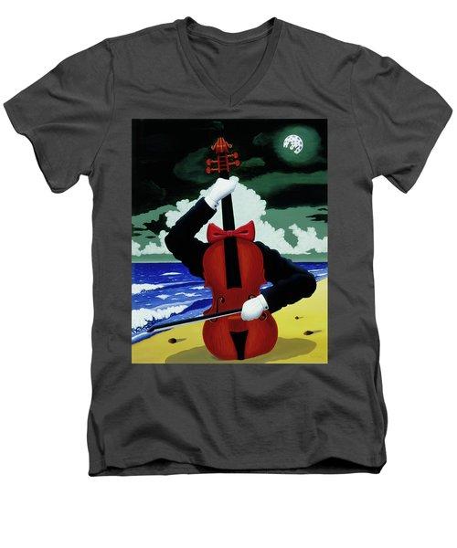 The Silent Soloist Men's V-Neck T-Shirt