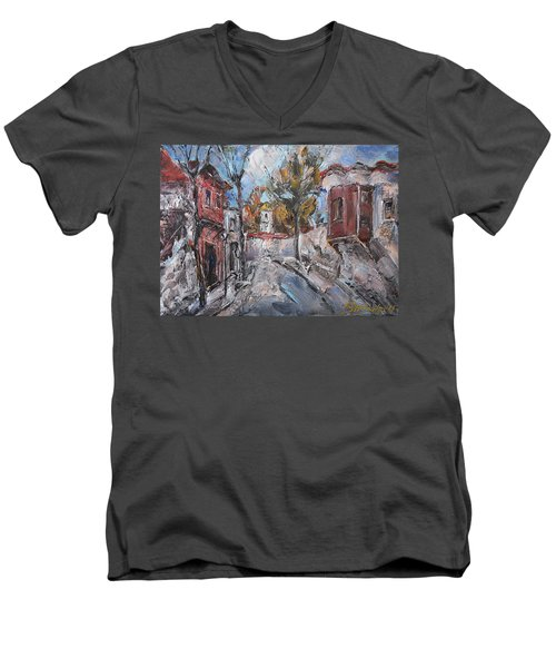 The Silent Street IIi Men's V-Neck T-Shirt