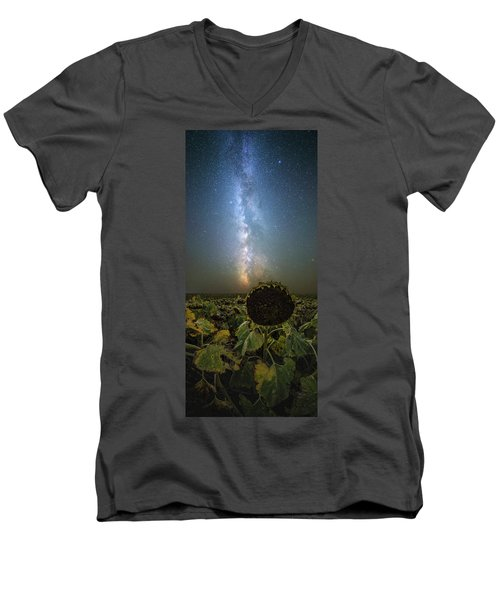 Men's V-Neck T-Shirt featuring the photograph The Sky Above  by Aaron J Groen