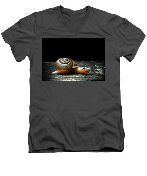Men's V-Neck T-Shirt featuring the photograph The Small Things by Jessica Brawley