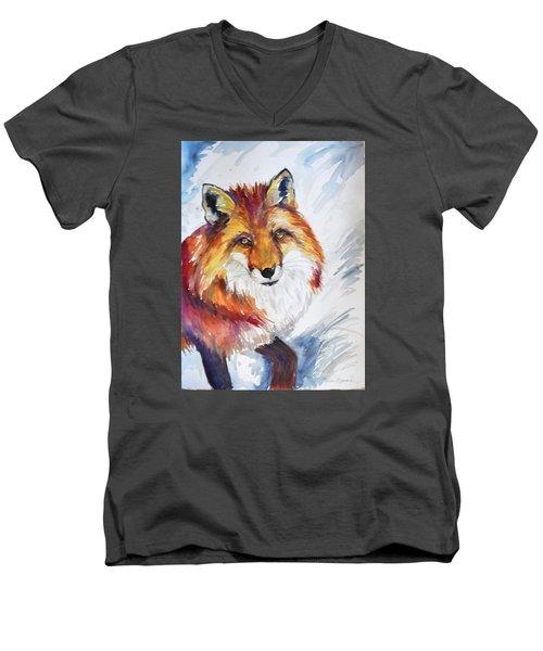 The Snow Fox Men's V-Neck T-Shirt
