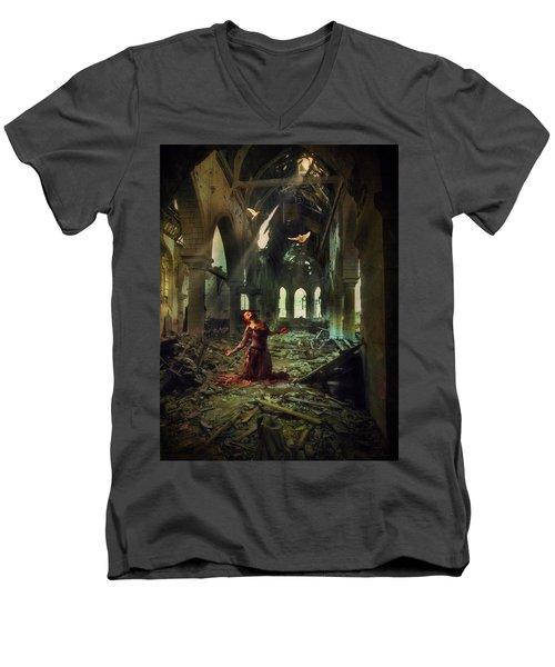 The Soul Cries Out Men's V-Neck T-Shirt