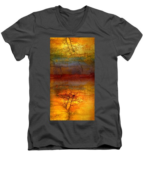 The Soul Dances Like A Tree In The Wind Men's V-Neck T-Shirt