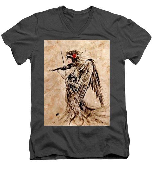 The Sound Of An Angel. Men's V-Neck T-Shirt