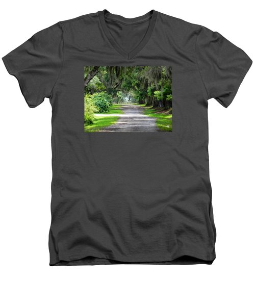The South I Love Men's V-Neck T-Shirt by Patricia Greer