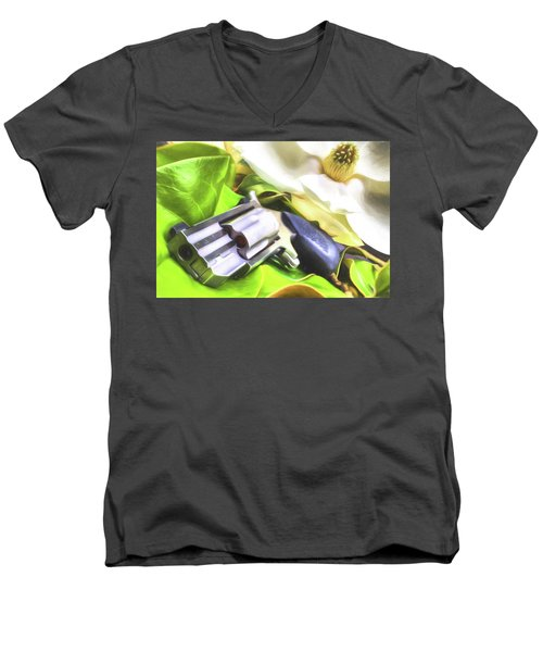 Men's V-Neck T-Shirt featuring the photograph The Southern Debutante  by JC Findley