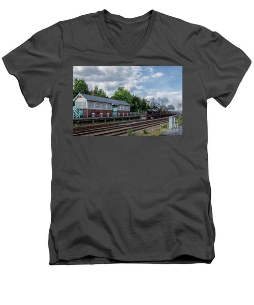 The Spa Express Departing Scarborough Men's V-Neck T-Shirt