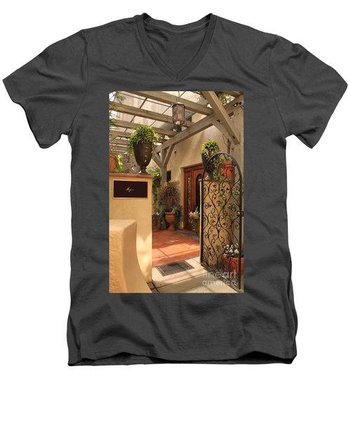 The Spa Men's V-Neck T-Shirt by James Eddy