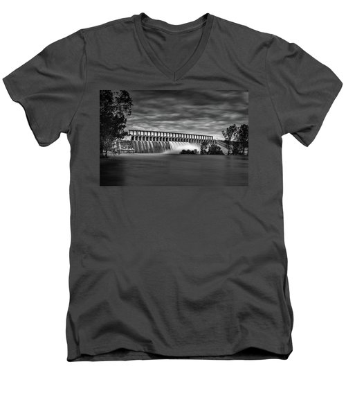 The Spill Men's V-Neck T-Shirt by Mark Lucey