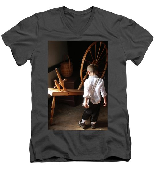 Men's V-Neck T-Shirt featuring the photograph The Spinning Wheel by Emanuel Tanjala