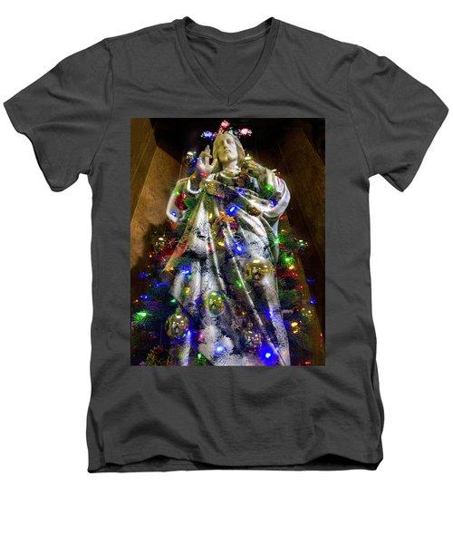 The Spirit Of Christmas Men's V-Neck T-Shirt