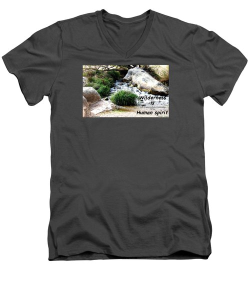 Men's V-Neck T-Shirt featuring the photograph The Spirit Of Water by David Norman