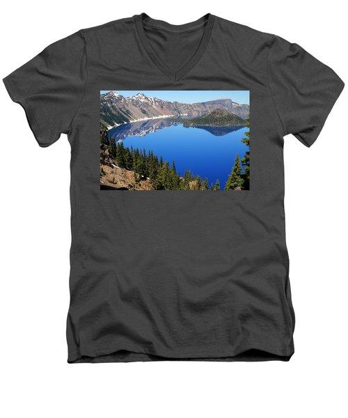 The Splendor Of Crater Lake Men's V-Neck T-Shirt