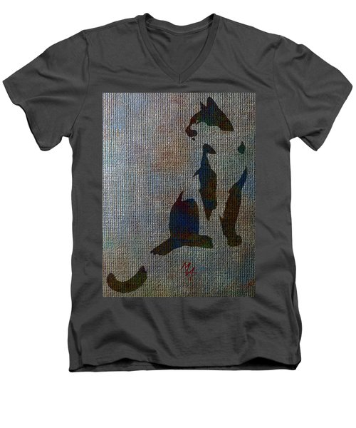The Spotted Cat Men's V-Neck T-Shirt