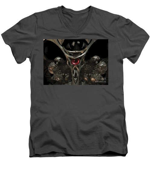 The Staff Of Eternity  Men's V-Neck T-Shirt by Melissa Messick