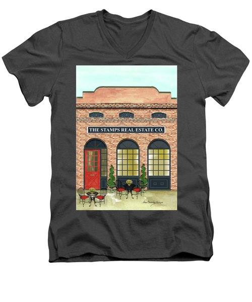 The Stamps Real Estate Co. Men's V-Neck T-Shirt