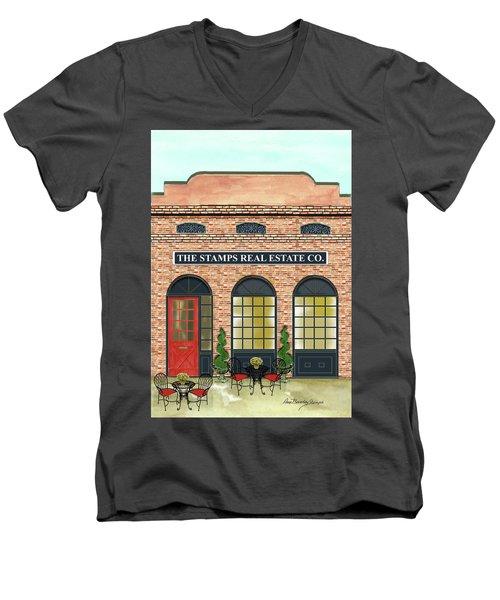 The Stamps Real Estate Co. Men's V-Neck T-Shirt