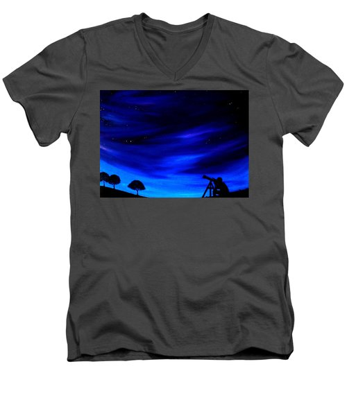 The Star Gazer Men's V-Neck T-Shirt by Scott Wilmot