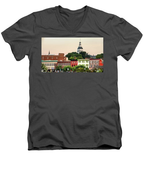 The State Capitol Men's V-Neck T-Shirt
