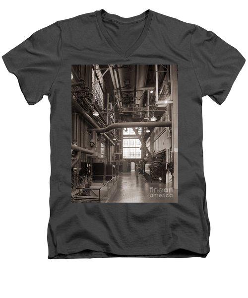 The Stegmaier Brewery Boiler Room Wilkes Barre Pennsylvania 1930's Men's V-Neck T-Shirt