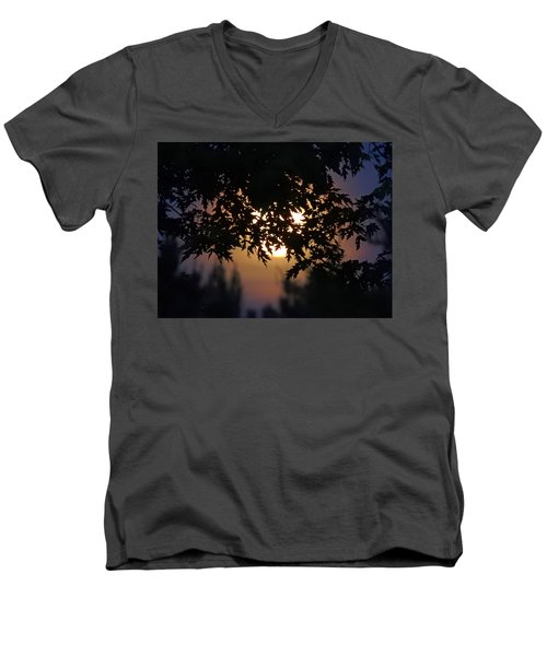 The Strawberry Moon Men's V-Neck T-Shirt by Judy Johnson