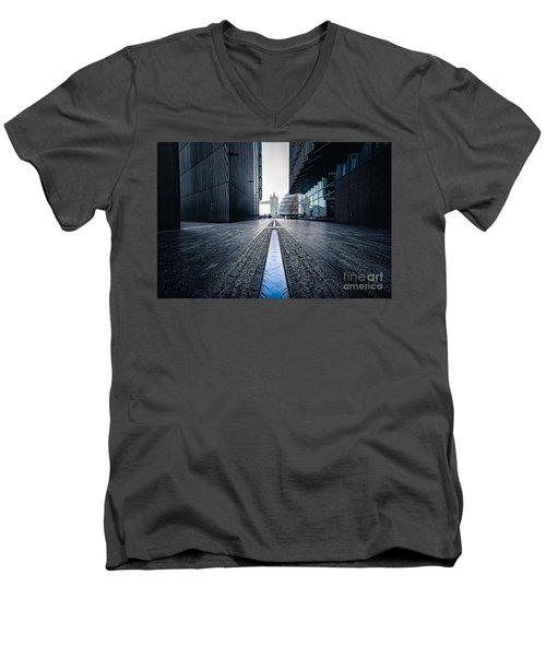 The Stream Of Time Men's V-Neck T-Shirt