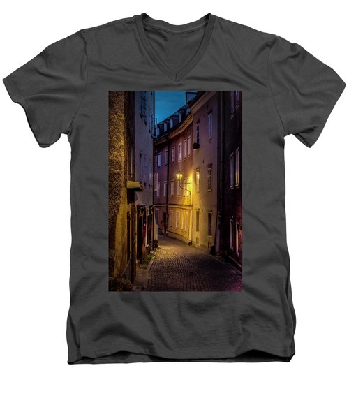 Men's V-Neck T-Shirt featuring the photograph The Streets Of Salzburg by David Morefield