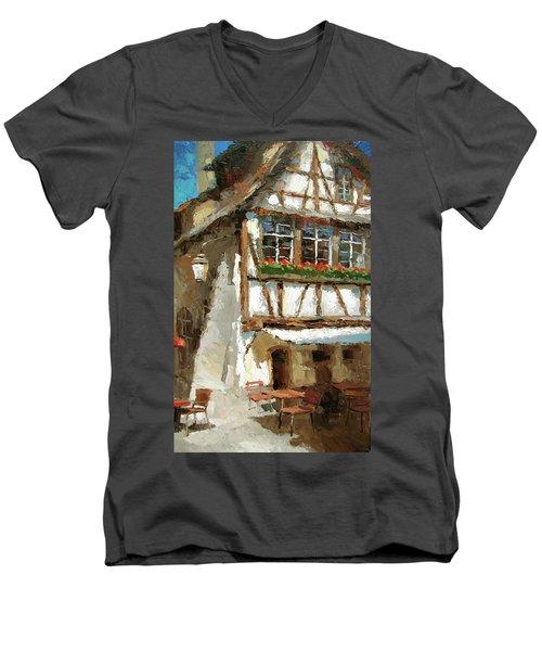 The Streets Of Strasbourg Men's V-Neck T-Shirt by Dmitry Spiros