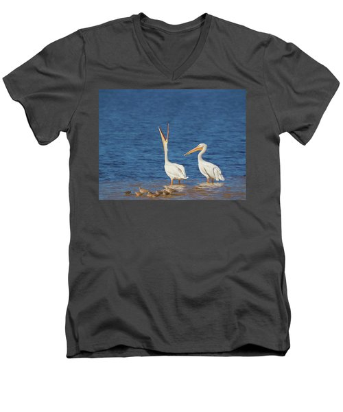 Men's V-Neck T-Shirt featuring the photograph The Stretch by Kim Hojnacki