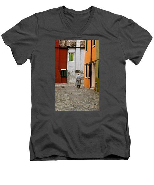 The Stroll Men's V-Neck T-Shirt by Michael Cinnamond