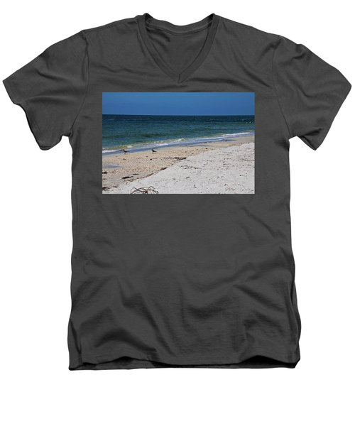 Men's V-Neck T-Shirt featuring the photograph The Stuff That Never Happened by Michiale Schneider