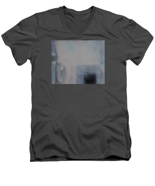 Men's V-Neck T-Shirt featuring the painting the Sublimation of ideas by Min Zou