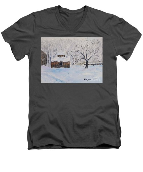 The Sugar House Men's V-Neck T-Shirt by Stanton Allaben