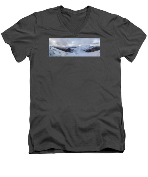 The Summit And Down The Wall Men's V-Neck T-Shirt
