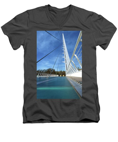 Men's V-Neck T-Shirt featuring the photograph The Sundial Bridge by James Eddy