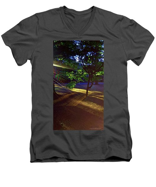 The Sunset Grove  Men's V-Neck T-Shirt