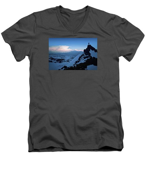 The Sunset Wave Men's V-Neck T-Shirt