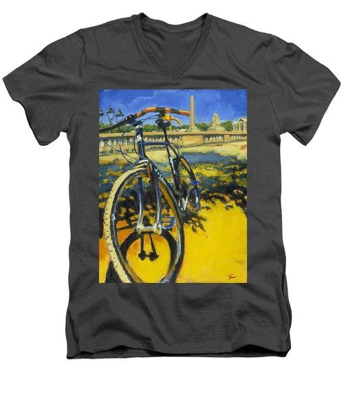 The Surly Bastard In Paris Men's V-Neck T-Shirt