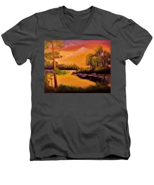 The Swamp Men's V-Neck T-Shirt by Manuel Sanchez