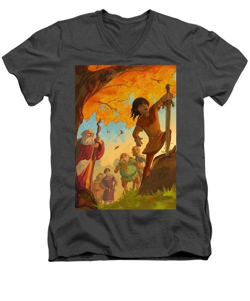 The Sword In The Stone Men's V-Neck T-Shirt