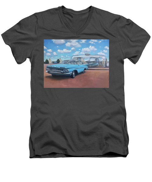The Teepee Motel, Route 66 Men's V-Neck T-Shirt